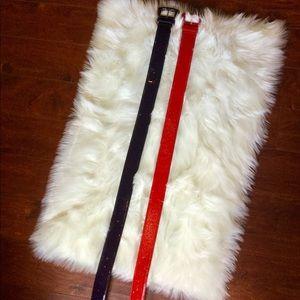 2 Betsey Johnson Wide Belts